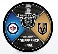 VEGAS GOLDEN KNIGHTS WINNIPEG JETS PUCK WESTERN CONFERENCE FINAL NHL STANLEY CUP