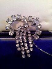 Brooch, Stunning, Czech crystal Art Deco Hollywood Glamour