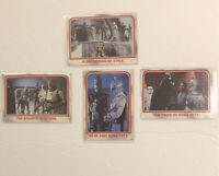 1980 Topps SW Empire Strikes Back Boba Fett 4 card set # 73,74,75, & 91 Rookies.