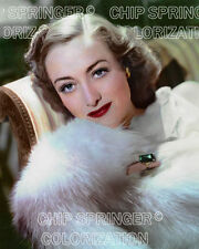 JOAN CRAWFORD in The Last of Mrs. Cheyney | 8x10 COLOR Photo by CHIP SPRINGER