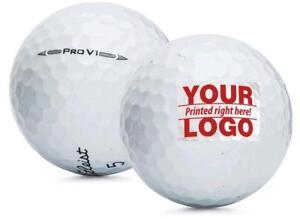 Custom Refinished Printed Titleist Pro V1 2016 Mint Golf Balls 1 Dozen