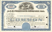 A P W PRODUCTS > Allied paper stock certificate share