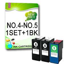 3 Ink Cartridge for X2690 X3690 X4690 X6690 Z2390 Z2490 Replac Lexmark NO.4 NO.5