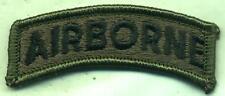 Vietnam Era US Army Airborne Tab Patch OD Subdued
