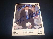 Tim Whitehead Maine Hockey Head Coach UMass Lowell Signed Authentic Autograph M7