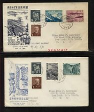 Japan 2 nice cachet covers At0509
