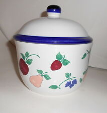 Princess House Exclusive ORCHARD MEDLEY Lidded Butter Tub Canister
