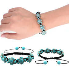Bohemia Bangle Turquoise Turtle Adjustable Braided Rope Bracelet Jewelry FO
