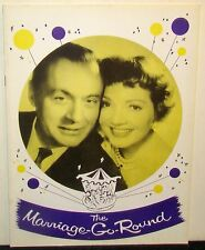 Souvenir Program for The Marriage-Go-Round, Charles Boyer Claudette Colbert 1958