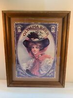 1909 Greetings Poster Olympia Beer Brewery Advertising Poster w/Blue Eyed Girl