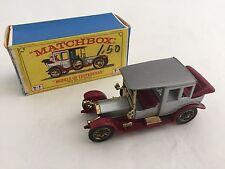 Lesney Matchbox Models of Yesteryear 1912 Rolls Royce Y-7C w/Box