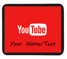 PERSONALISED CUSTOM NAME OR PLAIN YOUTUBE GAMING MOUSE MAT / PAD - PC/Laptop