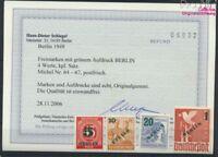 Berlin (West) 64-67 (kompl.Ausg.) geprüft postfrisch 1949 Grünaufdru (9223638