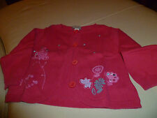 "TRES BEAU  GILET  ROSE "" ORCHESTRA  ""  12 MOIS  COMME NEUF"