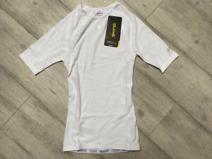 Skins DNAmic Team Men's White Short Sleeve Compression Tshirt M