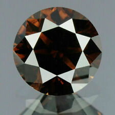 0.46 Carats NATURAL Deep BROWN DIAMOND LOOSE for Setting Round with CERTIFICATE