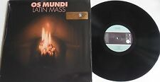 LP OS Mundi Latin mass-re-release-Missing VINILE mv036 STILL SEALED