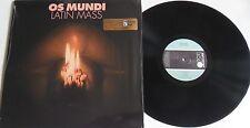 LP OS MUNDI Latin Mass - Re-Release - MISSING VINYL MV036 STILL SEALED