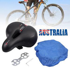 Bicycle Saddle Bike Seat Gel Cover Road MTB Mountain Wide Soft Padded Cushion AU