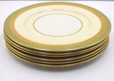 "SET OF 6 BEAUTIFUL LENOX  MARSHALL FIELD COMPANY 10-1/2"" DINNER PLATES GOLD TRIM"