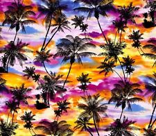 Fat Quarter Ocean Avenue Tropical Sunset 100 Cotton Quilting Fabric Benartex