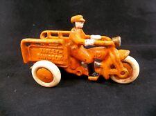 HARLEY DAVIDSON 1930s Delivery Cast Iron Replica Orange Trike Metal Xonex