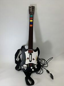 Playstation 2 PS2 Guitar Hero Red Octane Wired Controller Black & White Tested