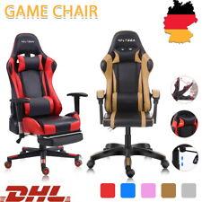 Gaming Stuhl Bürostuhl Racing Chair Computerspiel Sportsitz Drehstuhl /Fußstütze