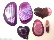 Collection XTreme Big & Huge & Beautiful: 6 Pink Purple Dragon Veins Agate Beads