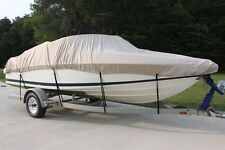NEW VORTEX COMBO PACK HEAVY DUTY TAN/BEIGE 27' 28' BOAT COVER + SUPPORT SYSTEM