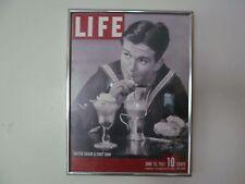 Soda Shop Sign Jimmy Stewart British Sailor & First Soda LIFE Framed Print Board