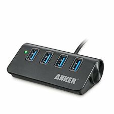 Multiple USB Port 4-Port Hub Anker Powered USB 3.0 Extension 2-Ft Cable Charger