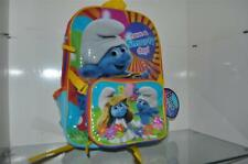 "Smurfs School Bag Backpack 16""x12"" and Lunch Box 8""x7"" NWT FAST HANDLING"