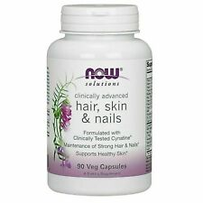 Now Foods Vegan Hair Skin & Nails - 90 Veggie Capsules - Newest Expiration