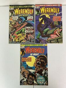 Marvel - Werewolf by Night - Bronze Age Comic Book Lot of 3 - 11, 18 & 36