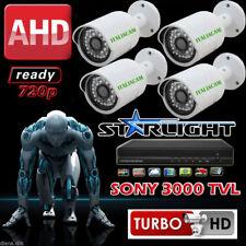 Kit VIDEOSORVEGLIANZA DVR 4 H264 + 4 Telecamere IR CCD Visibile da Telefonini