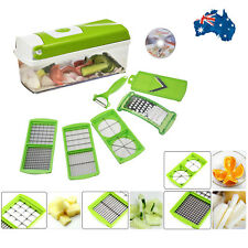 Vegetable Fruit Chopper Cutter Slicer Salad Dicer Grater Peeler Kitchen Kits AU