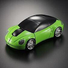 Reino Unido Verde 2.4GHz Inalámbrico 3D 1600DPI coche faros de forma Mouse Óptico Usb De Cola