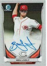 Ben Lively AUTOGRAPH RC Cincinnati Reds 2014 Bowman Chrome AUTO Baseball Card