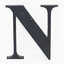 Lettera N Nero MDF segno iniziale studio cinematografico TV STADIO Prop Muro Appeso Stile 78