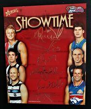 2010 Select AFL Champions Series Auskick Showtime Foil Signature Bonus box card