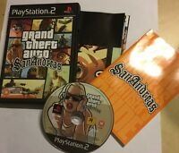 SONY PLAYSTATION 2 PS2 GRAND THEFT AUTO GTA SAN ANDREAS complete PAL tested GWO