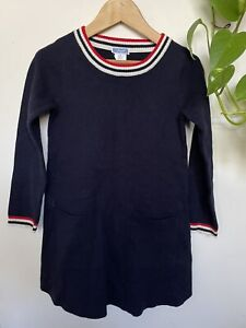 Jacadi Paris Navy Mary Jane Dress Sz 6
