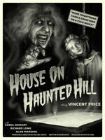 "Mondo ""House On Haunted Hill"" Art Print Movie Poster Sam Wolfe Connelly XX/75"