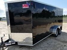7x16 7 x 16 Enclosed Trailer Cargo V-Nose Ramp motorcycle 14 utility 18 IN STOCK