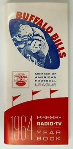 Reproduction 1964 BUFFALO BILLS MEDIA GUIDE YEARBOOK Championship Season AFL