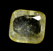 12.00Ct Natural Brazil Yellow Topaz Certified Untreated Loose Gemstone Ring Size