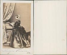 Reine Victoria d'Angleterre, impératrice des Indes CDV vintage albumen cart