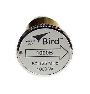 Bird 1000B Plug-in Element 0 to 1000 watts 50-125 MHz for Bird 43 Wattmeters