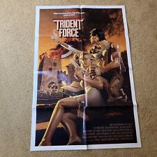 One Sheet 27x41 Movie Poster The Trident Force 1989 Anthony Alonzo